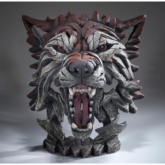 Edge Sculpture Wolf Bust - Timber