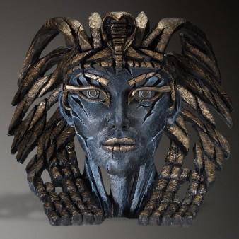 Edge Sculpture Cleopatra Bust - Egyptian Blue