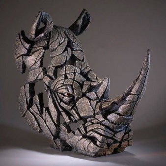 Edge Sculpture Rhinoceros Bust