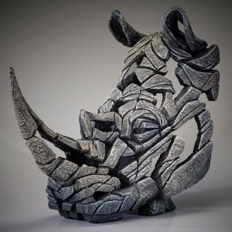 Edge Sculpture Rhinoceros Bust - White