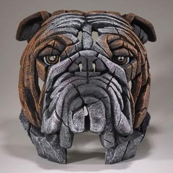 Edge Sculpture Bulldog Bust - Fawn