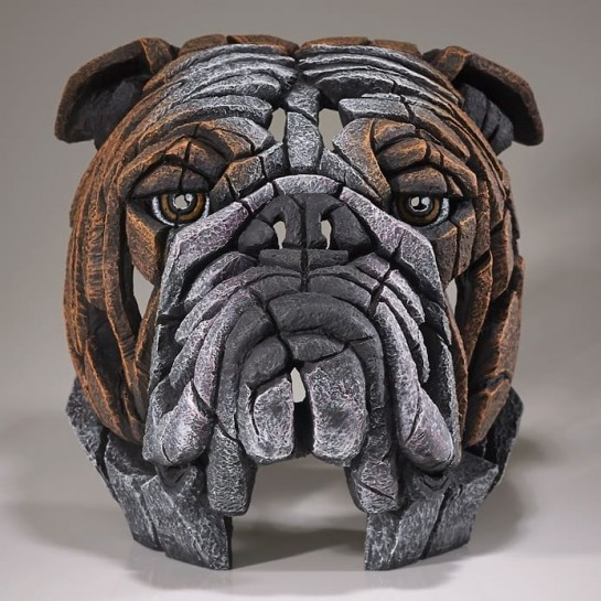 Edge Sculpture Bulldog Bust - Fawn