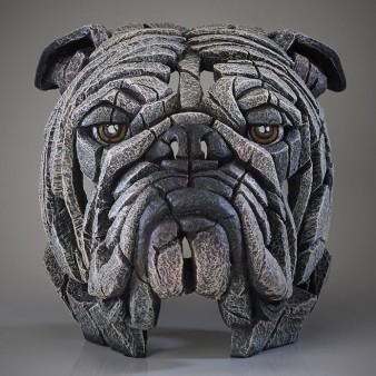 Edge Sculpture Bulldog Bust - White