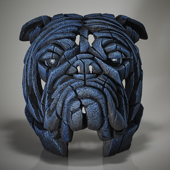 Edge Sculpture Bulldog Bust - Bobby Blue - Limited Edition 50