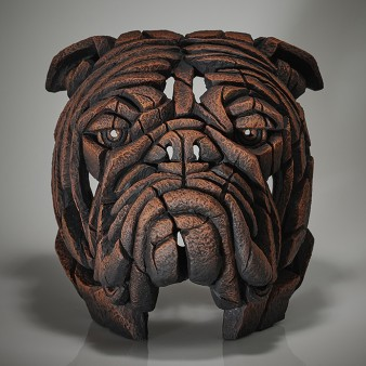 Edge Sculpture Bulldog Bust - Brown Sauce - Limited Edition 50
