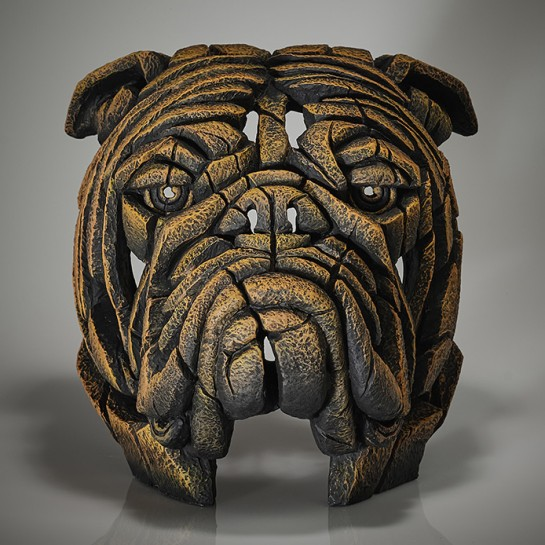Edge Sculpture Bulldog Bust - English Mustard - Limited Edition 50