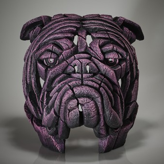 Edge Sculpture Bulldog Bust - Pink Gin - Limited Edition 50