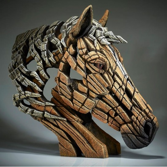 Edge Sculpture Horse Bust - Palomino