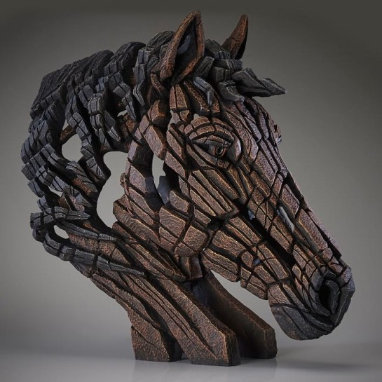 Edge Sculpture Horse Bust - Bay
