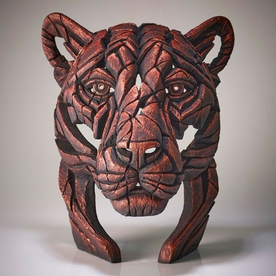Panther Bust 'Jungle Flame' - Bronze - Limited Edition 100