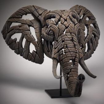 Edge Sculpture African Elephant Bust
