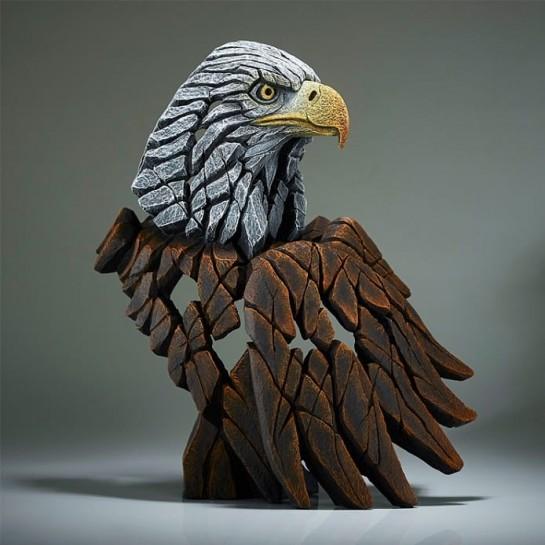 Edge Sculpture Bald Eagle Bust