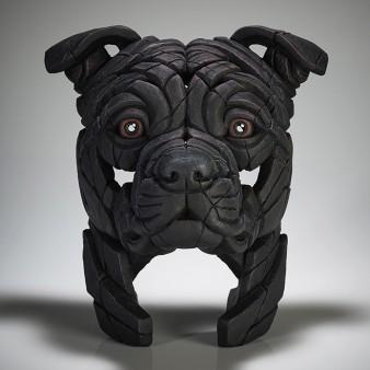 Edge Sculpture Staffordshire Bull Terrier Bust (Black)