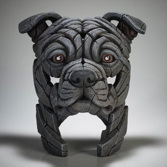 Edge Sculpture Staffordshire Bull Terrier Bust (Blue)