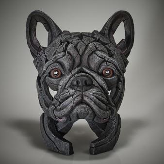 Edge Sculpture French Bulldog Bust (Blue)