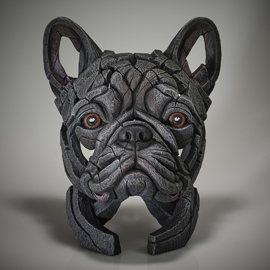 Edge Sculpture French Bulldog Bust (Blue)