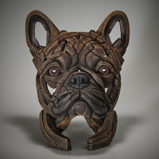 Edge Sculpture French Bulldog Bust (Brindle)