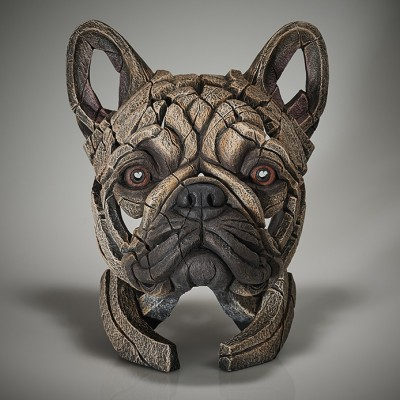 Edge Sculpture French Bulldog Bust (Fawn)