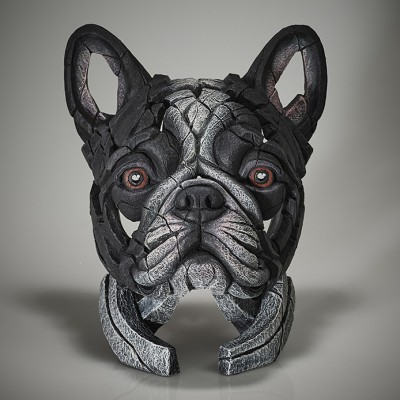 Edge Sculpture French Bulldog Bust (Pied)