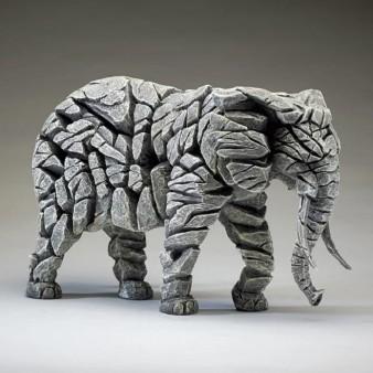 Edge Sculpture Elephant - White