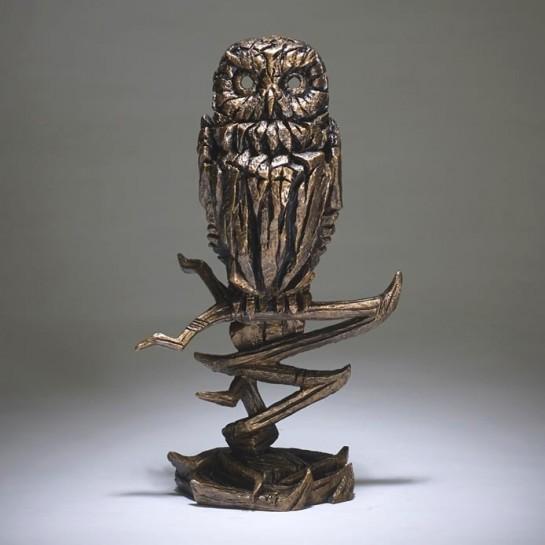 Edge Sculpture Owl - Golden