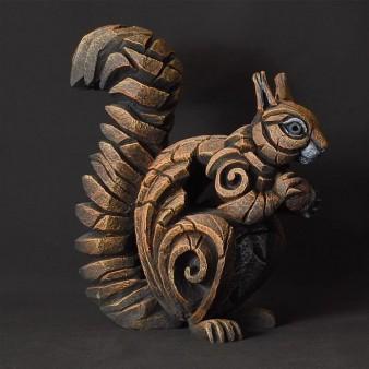 Edge Sculpture Squirrel - Red