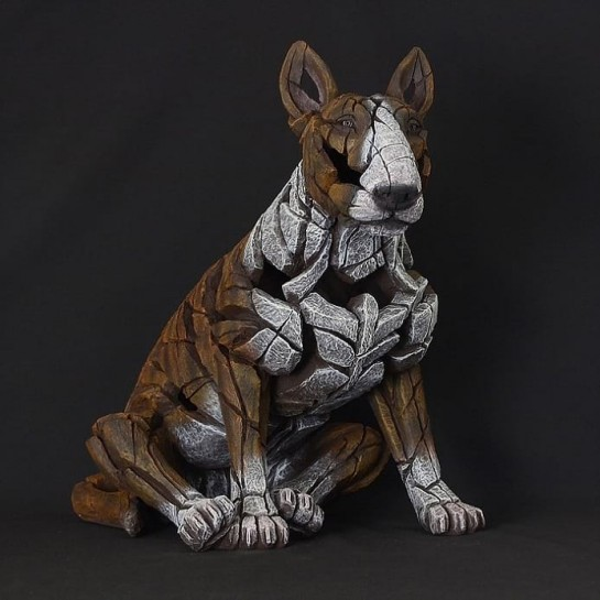 Edge Sculpture Bull Terrier - Brindle