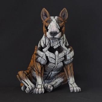 Edge Sculpture Bull Terrier - Red