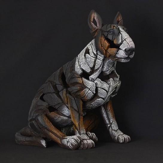Edge Sculpture Bull Terrier - Tri-Colour