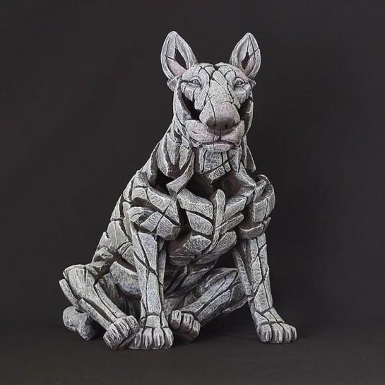 Edge Sculpture Bull Terrier - White