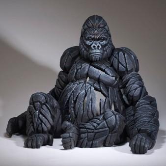 Edge Sculpture Sitting Gorilla