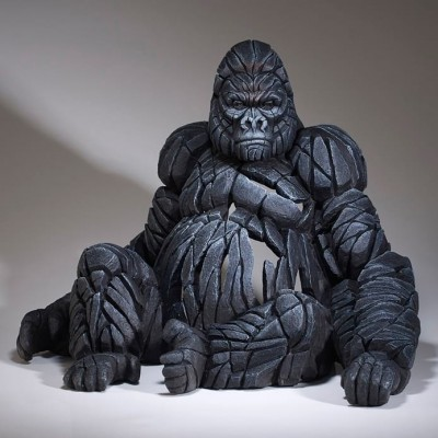 Edge Sculpture Sitting Gorilla