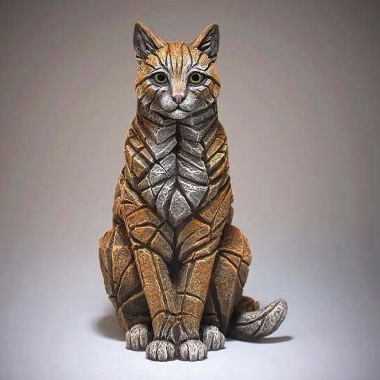 Edge Sculpture Sitting Cat - Ginger