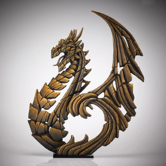 Edge Sculpture Heraldic Dragon - Gold