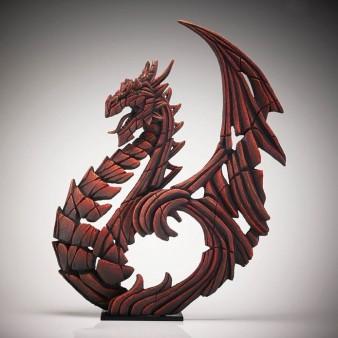 Edge Sculpture Heraldic Dragon - Red