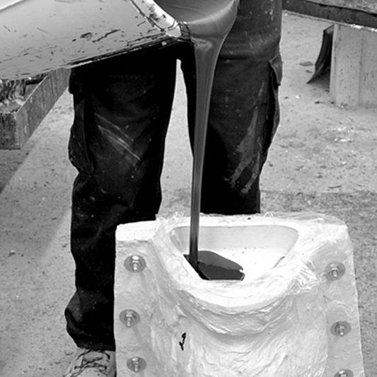 Pouring a cast